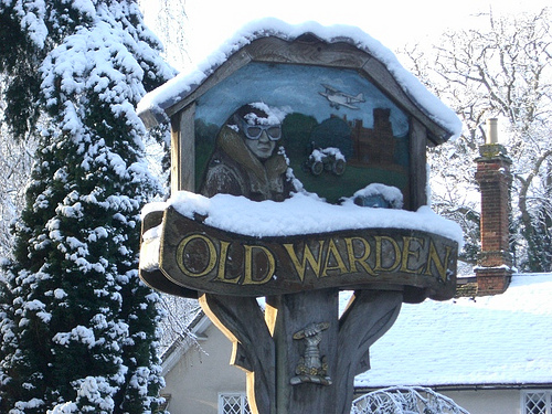 Old Warden sign 2009