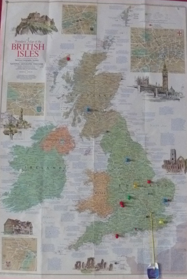 British Visitor map