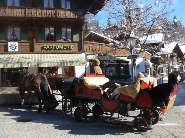 Gstaad sleigh ride