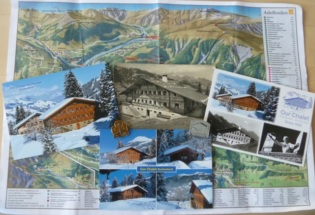 Our Chalet cards and map