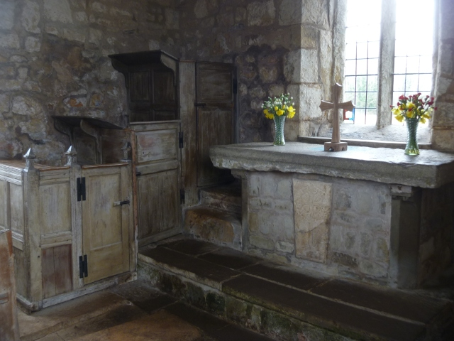 Pulpit and altar