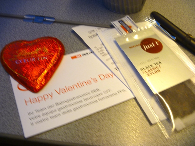 valentines on the train