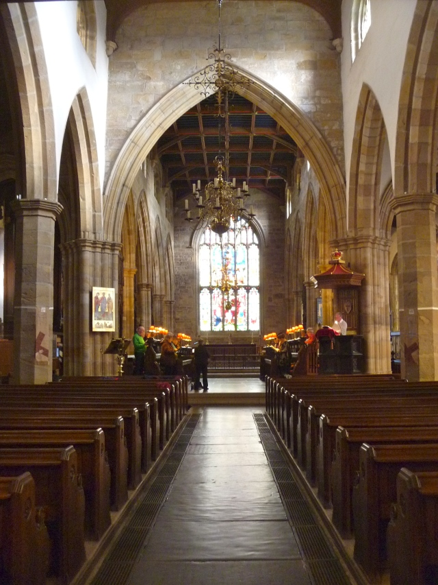 Inside Lancaster Priory Church