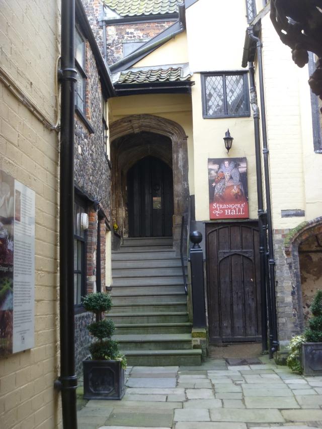 Strangers' Hall entrance