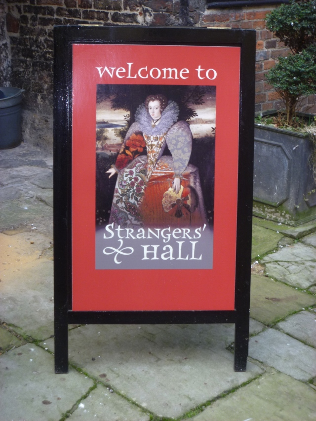 Strangers' Hall welcome