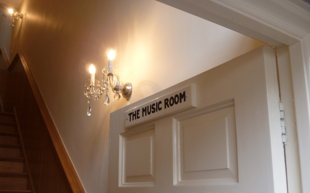 The Music Room sign