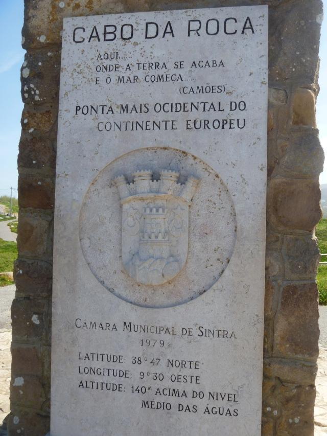 Cabo da Roca sign