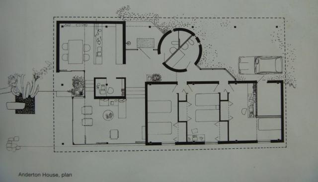 An original plan of Anderton House