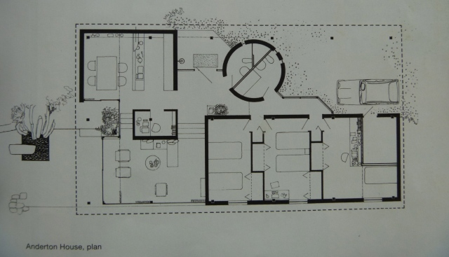 An original plan of Anderton House