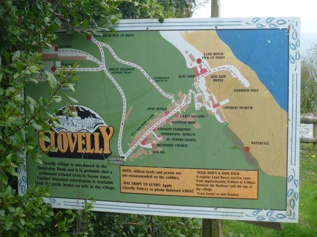 Clovelly info board