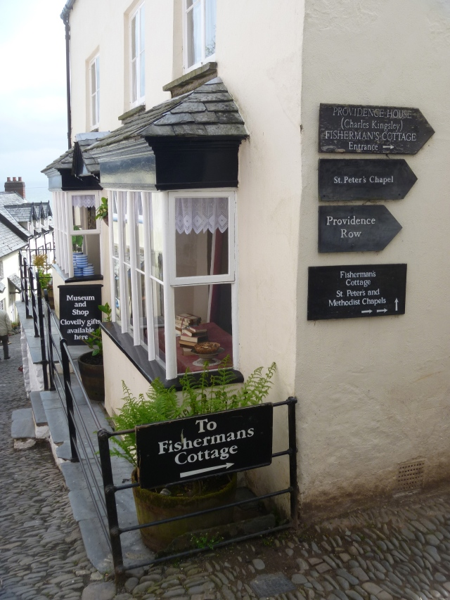 Clovelly Museum and signs