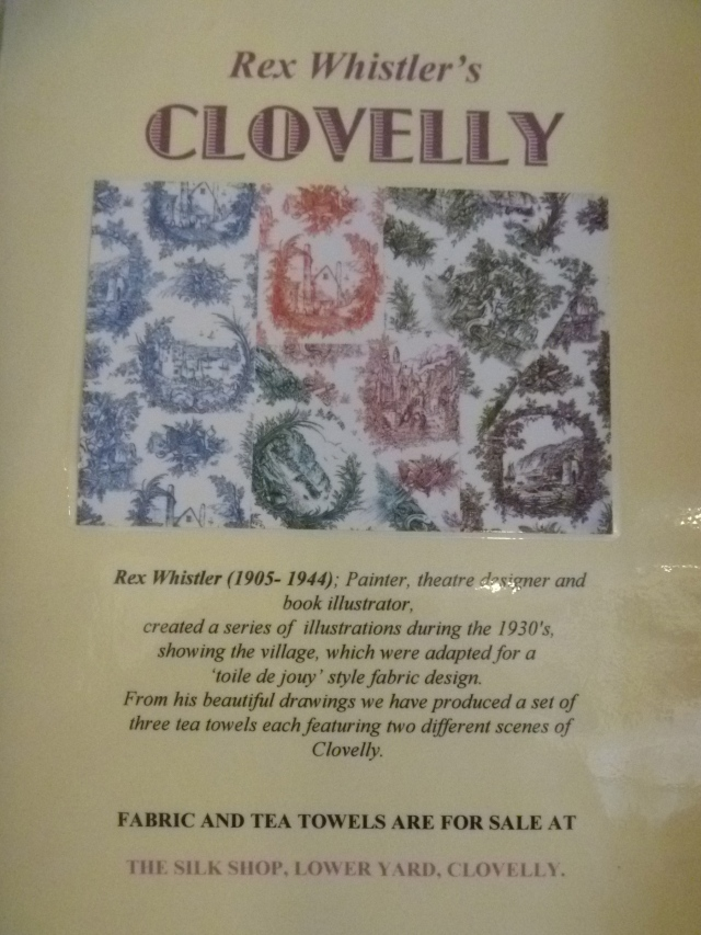 Rex Whistler's Clovelly poster