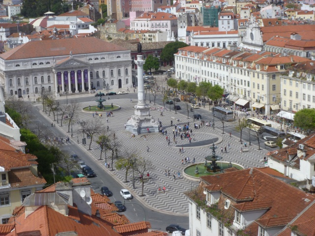 Rossio Square from the Viewing Platform