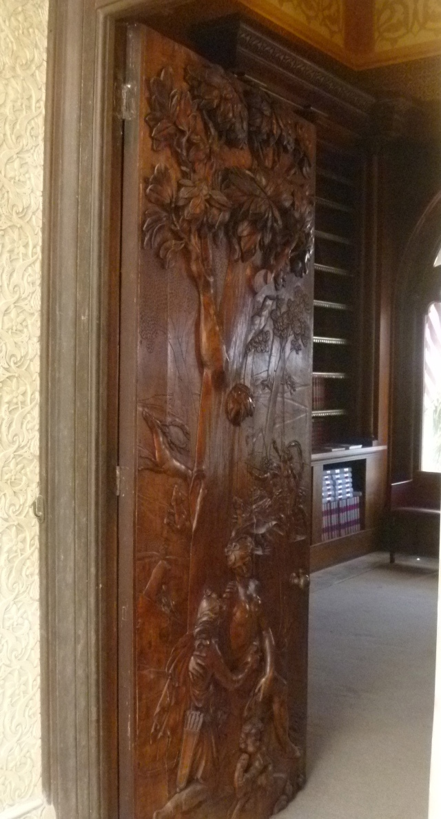 The library door