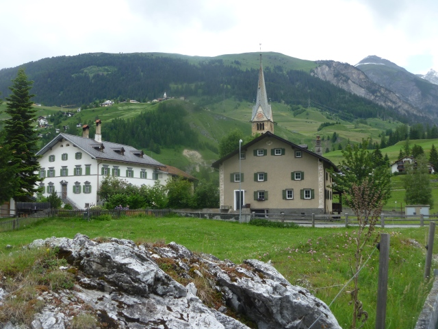 Arriving in Bergün