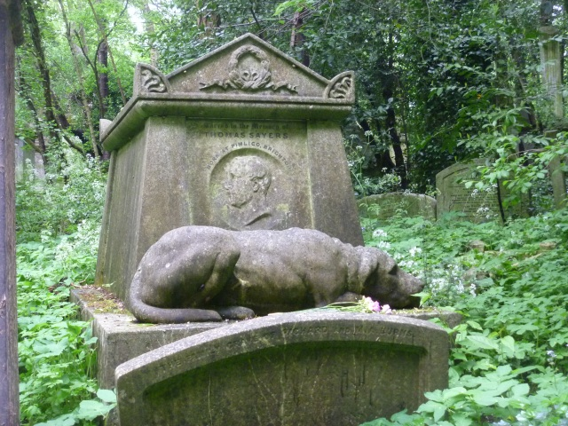 Thomas Sayers and his bull mastif