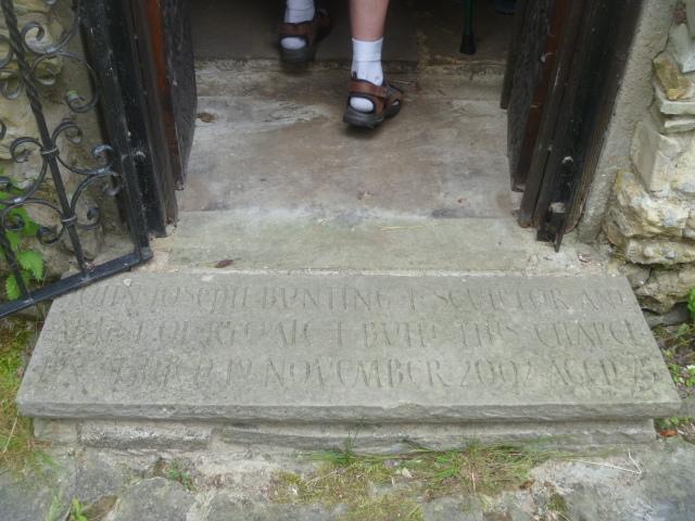 Memorial Stone to John Bunting