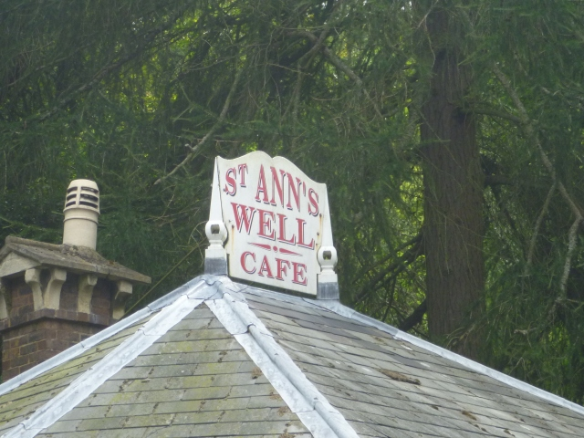St Ann's Well Cafe sign