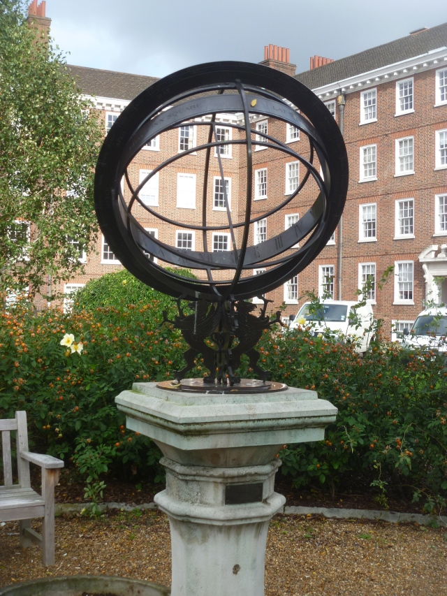 Armillary consisting of hoops or rings