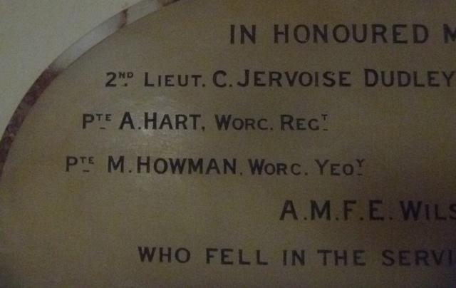 Close up M Howman