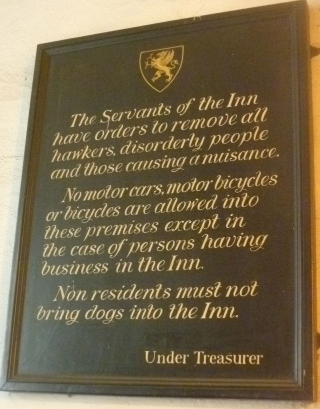 Grays Inn notice