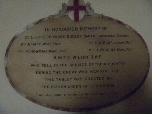 Honours Board Strensham Church