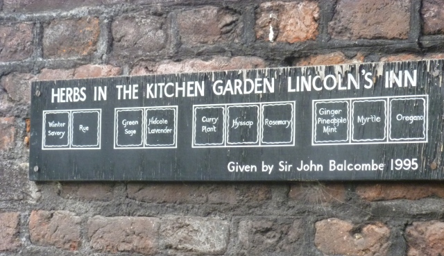 Lincolns Inn herb plan