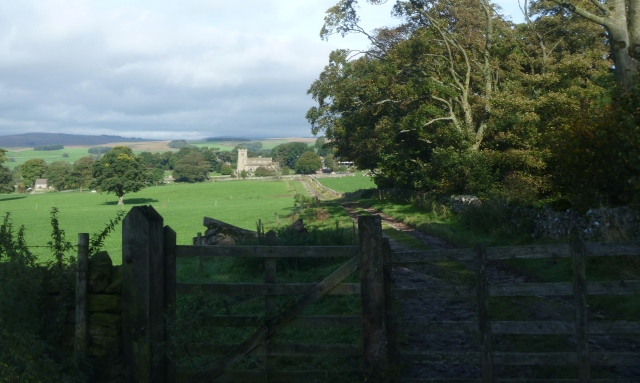 Looking back to St Peter's and Rylstone