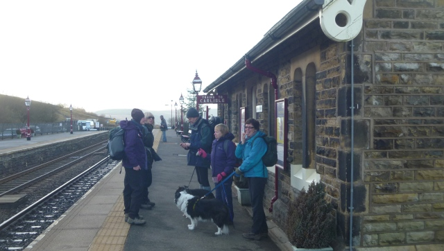Assembling at Garsdale Station