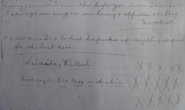 Marshall letter