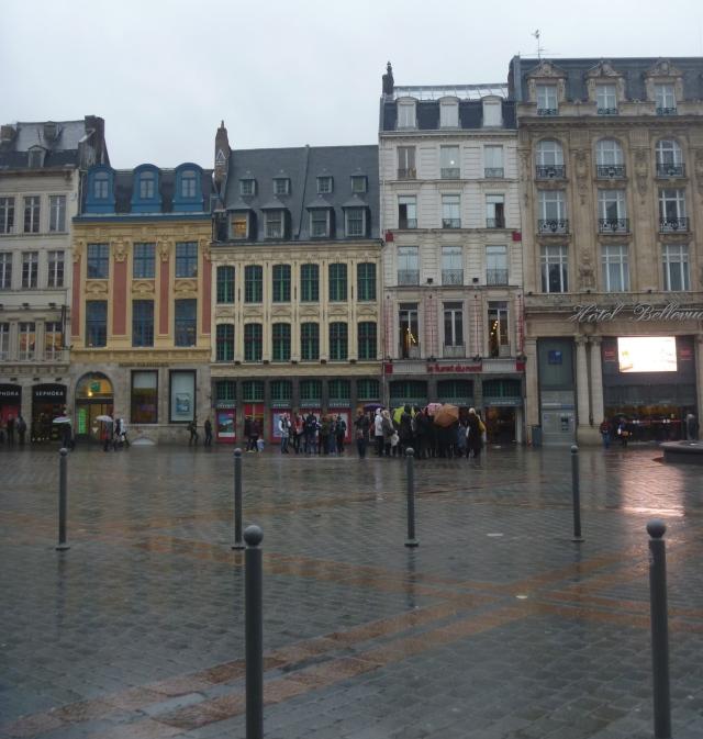 La Grand Place in the rain