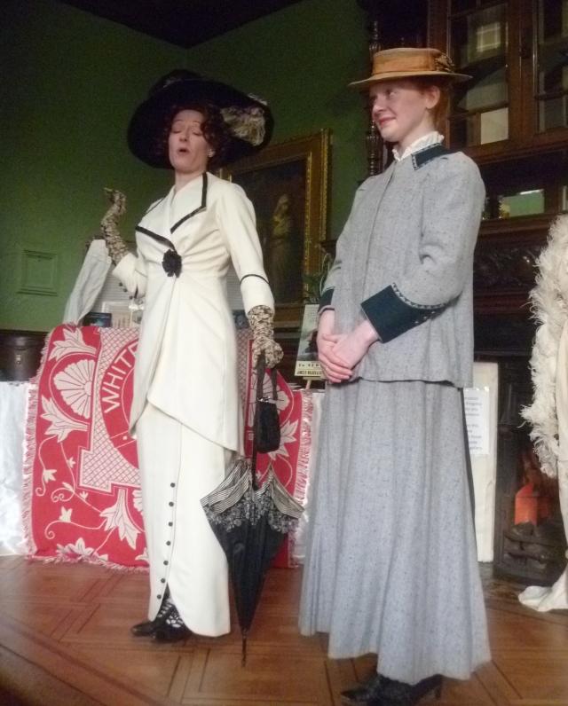 Lady Duff Gordon and maid