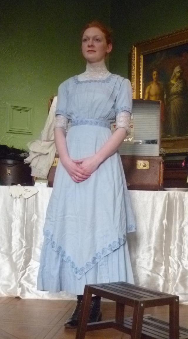 Meredith in her tea dress