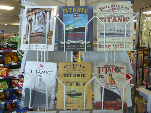 Titanic postcards