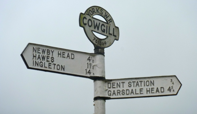 Cowgill signpost