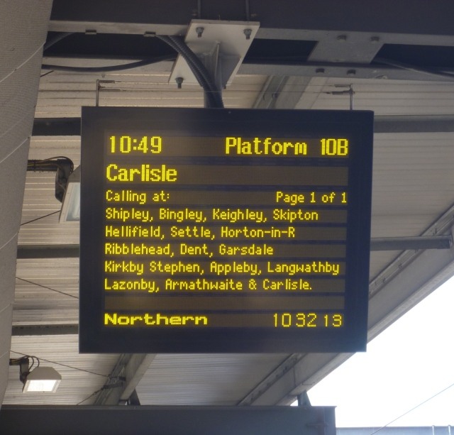 Leeds Station sign