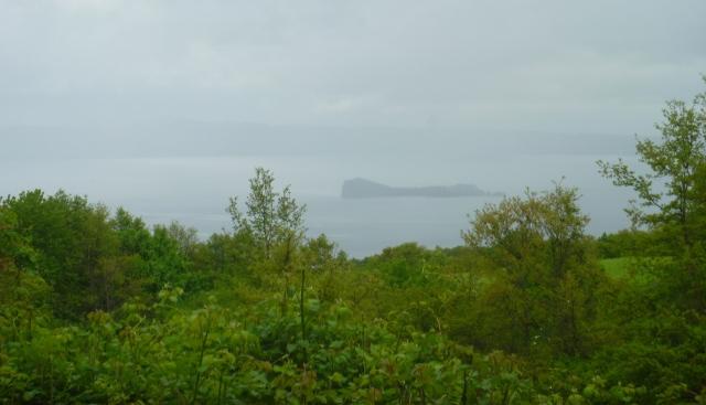 Lake Bolsena in the rain