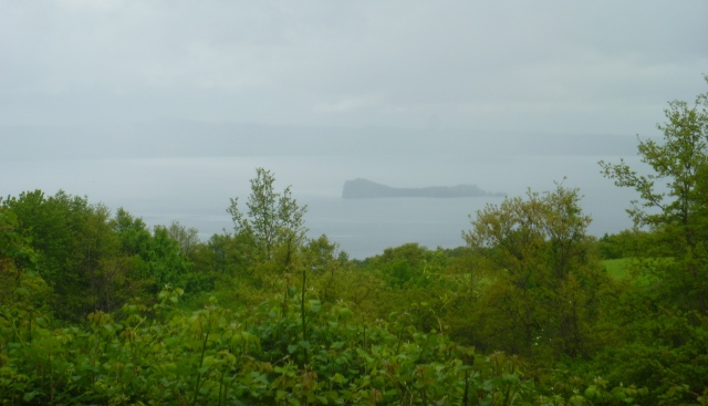 Lake Bolsena in the rain