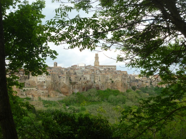 Pitigliano from viewpoint