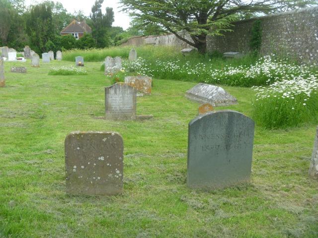 Firle churchyard