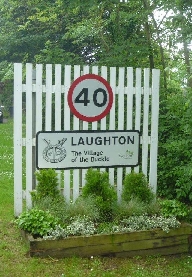 Road sign Laughton
