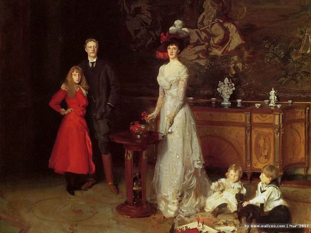 [wallcoo]_Sargent_John_Singer_Sir_George_Sitwell_Lady_Ida_Sitwell_and_Family