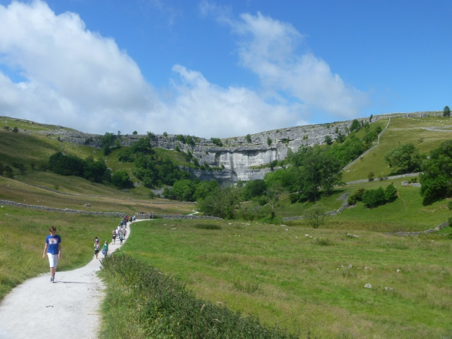 Leaving Malham Cove