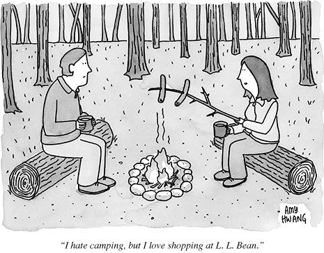 I hate camping ...