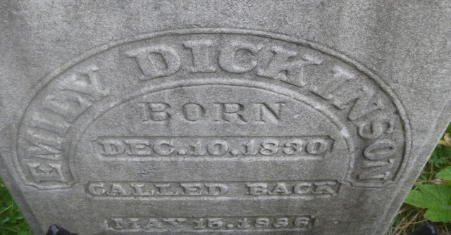 Emily Dickinson grave stone