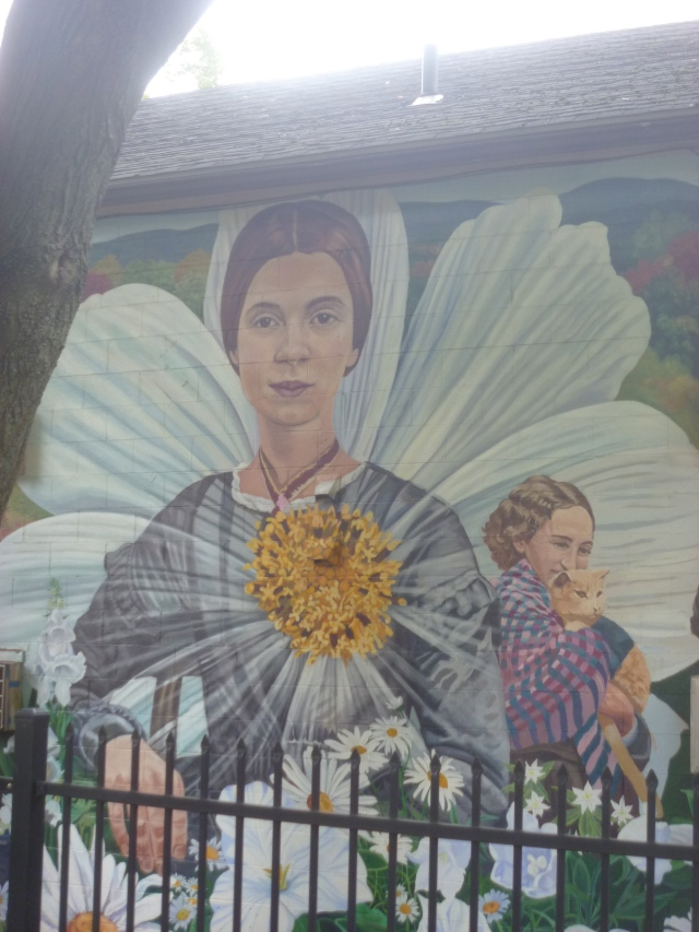 Emily Dickinson on History Mural