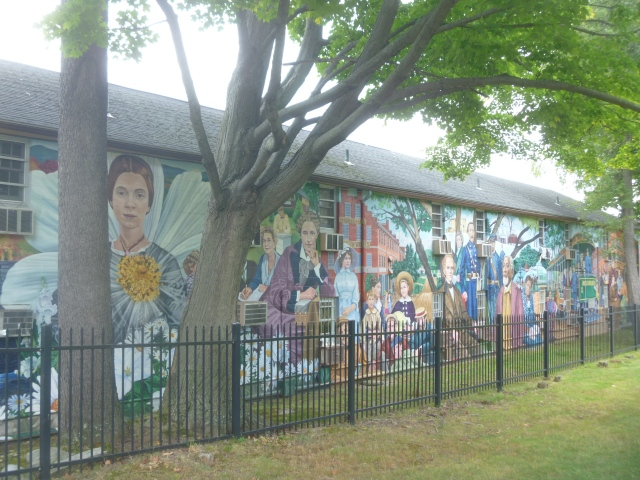 History Mural West Cemetery Amherst