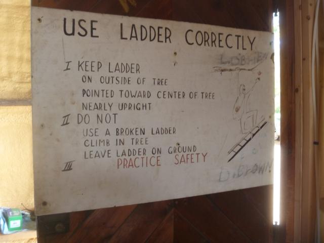 Ladder instructions
