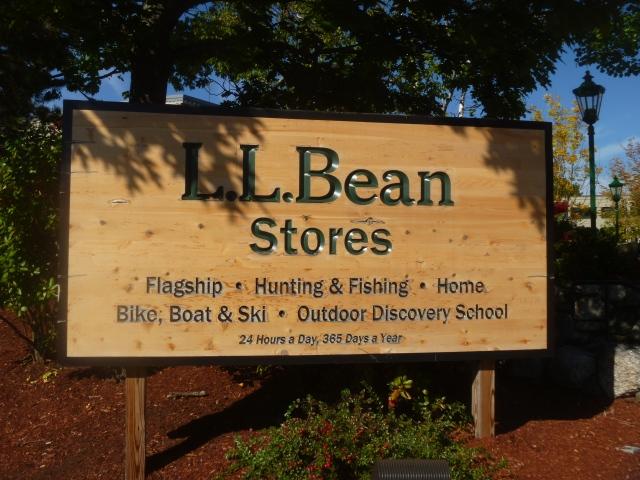 LLBean sign