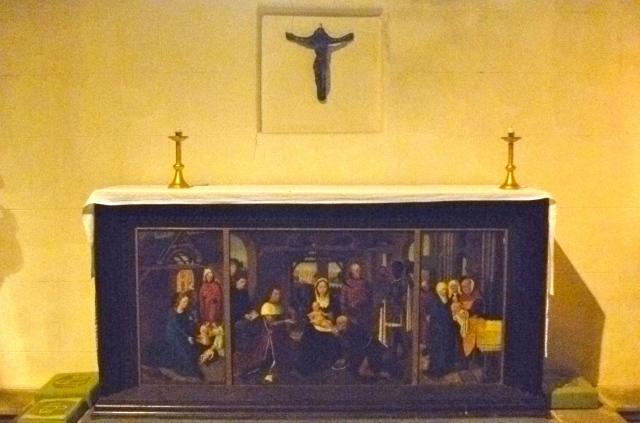 Altar tryptich